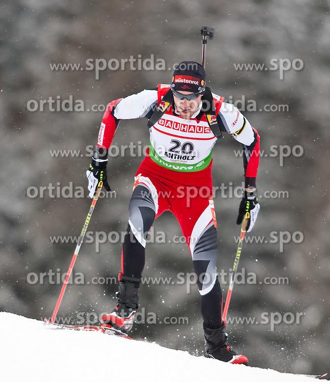 "20.01.2012, Südtirol Arena, Antholz, ITA, E.ON IBU Weltcup, 6. Biathlon, Antholz, Sprint Herren, im Bild Dominik Landertinger (AUT) // Dominik Landertinger (AUT) during Sprint Men E.ON IBU World Cup 6th, ""Southtyrol Arena"", Antholz-Anterselva, Italy on 2012/01/20, EXPA Pictures © 2012, PhotoCredit: EXPA/ Juergen Feichter"