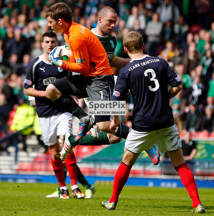 Hibernian v Falkirk Scottish Cup Semi Final..Michael McGovern leaps to make a save.....(c) STEPHEN LAWSON | StockPix.eu