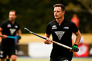 Shea McLeese of the Black Sticks at the Black Sticks v Canada third test. Lloyd Elsmore Park, Auckland. 20 October 2018. Copyright photo: Alisha Lovrich / www.photosport.nz
