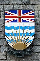 Shield of British Columbia Province, Victoria, Canada