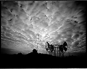 THE ATLANTIC WALL. .pic shows: HOLLAND. Cold War American radar instalations at the Hoek of Holland on top of German WW2 Atlantic Wall defense system..COPYRIGHT PHOTOGRAPH BY BRIAN HARRIS  © 2005.07808-579804