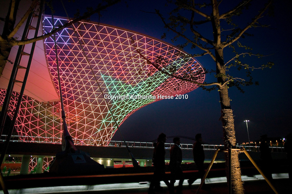 SHANGHAI, APRIL 30, 2010 : visitors walk on the World Expo site before the official launch.