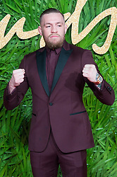 © Licensed to London News Pictures. 04/12/2017. London, UK. CONOR MCGREGOR arrives for The Fashion Awards 2017 held at the Royal Albert Hall. Photo credit: Ray Tang/LNP