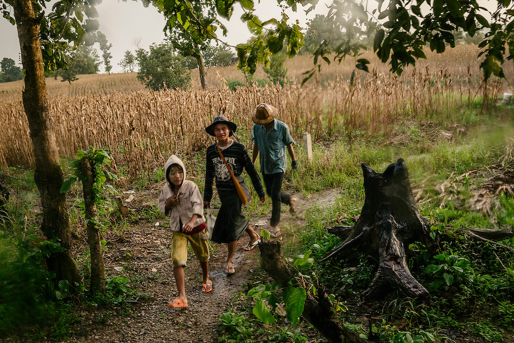 Local farmer's family by the Thai-Myanmar border.