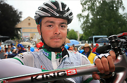 Winner Jure Golcer of Slovenia (LPR Brakes) before 3rd stage of the 15th Tour de Slovenie from Skofja Loka to Krvavec (129,5 km) , on June 13,2008, Slovenia. (Photo by Vid Ponikvar / Sportal Images)/ Sportida)