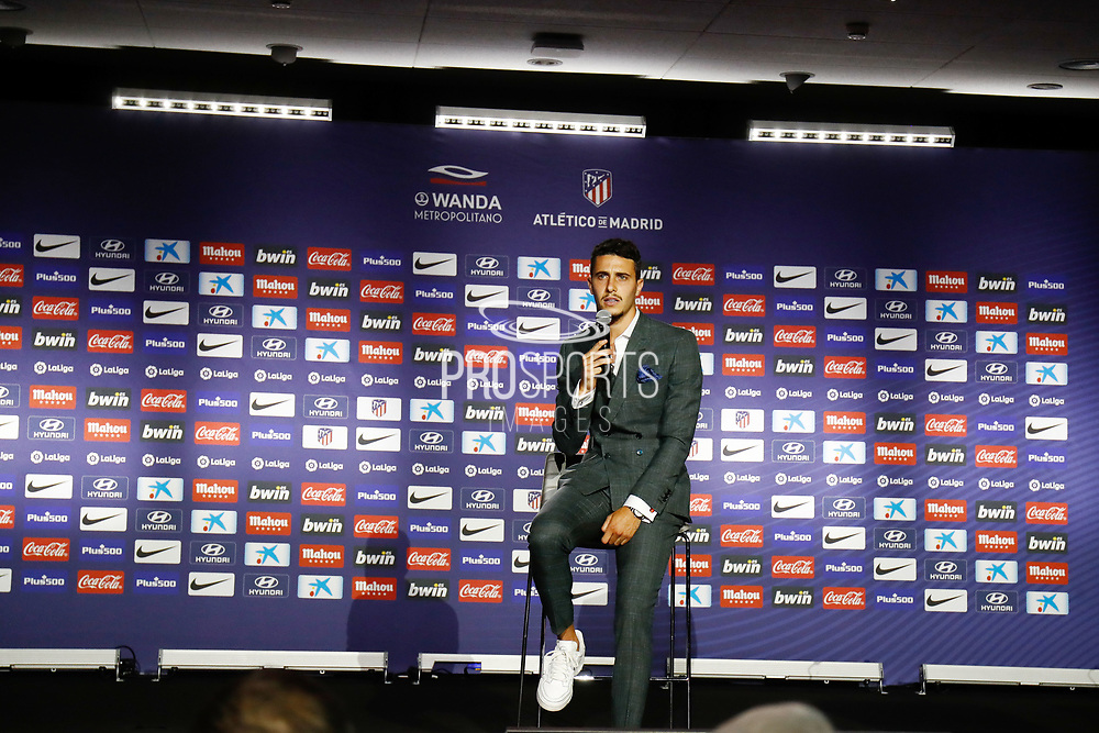 Mario Hermoso during his presentation as new player of Atletico Madrid on July 18, 2019 at Wanda Metropolitano stadium in Madrid, Spain - Photo Oscar J Barroso / Spain ProSportsImages / DPPI / ProSportsImages / DPPI