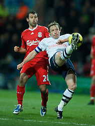 PRESTON, ENGLAND - Saturday, January 3, 2009: Liverpool's Javier Mascherano and Preston North End's Paul McKenna during the FA Cup 3rd Round match at Deepdale. (Photo by David Rawcliffe/Propaganda)