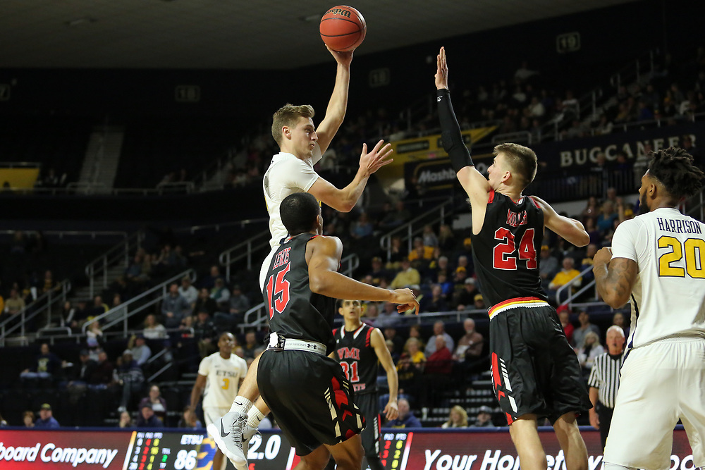 January 13, 2018 - Johnson City, Tennessee - Freedom Hall: ETSU guard Dillon Reppart (23)<br /> <br /> Image Credit: Dakota Hamilton/ETSU