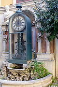 Rome, the coservative studio Merlini Storti, water clock built in 1870 by Father Giovanni Embriaco, a Dominican priest