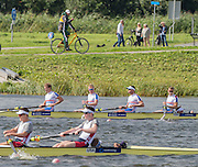Rotterdam. Netherlands. GBR BM4+  Rory Gibbs, Chris Heywood, Michael Glover, Matt Aldridge  and  cox, Harry Brightmore  2016 JWRC, U23 and Non Olympic Regatta. {WRCH2016} at the Willem-Alexander Baan.   Sunday  21/08/2016 <br /> <br /> [Mandatory Credit; Peter SPURRIER/Intersport Images]