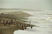 Veraval, the beach near the temple at Somnath.