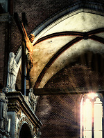 """Christ illuminated by paradise - the Basilica of Santa Maria Gloriosa dei Frari Venezia""..."