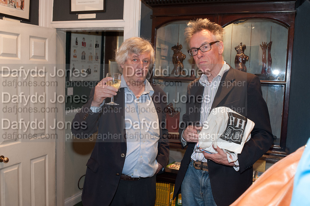 JAMES HUGHES-ONSLOW; ANDREW BARROW, Elliott and Thompson host a book launch of How the Queen can Make you Happy by Mary Killen.- Book launch. The O' Shea Gallery. St. James's St. London. 20 June 2012.