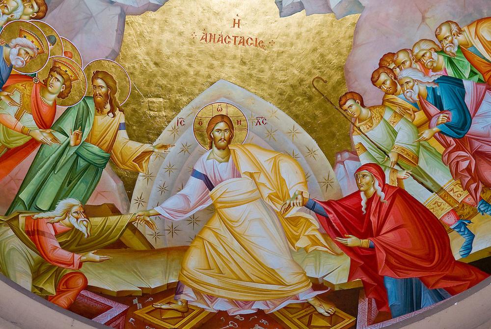 Presco in the  Greek Orthodox church of the twelve apostles in Capernaum , Israel