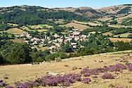 Village de Bouisse . Paysages de Hautes Corbieres, Aude, France.