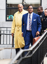 Bill Cosby and attorneys Thomas Mesereau and Kathleen Bliss leave the first day of jury selection for his sexual assault retrial at Montgomery County Courthouse in Norristown, PA. 02 Apr 2018 Pictured: Bill Cosby, Andrew Wyatt. Photo credit: MEGA TheMegaAgency.com +1 888 505 6342