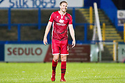 Morecambe defender Steven Old  during the EFL Sky Bet League 2 match between Macclesfield Town and Morecambe at Moss Rose, Macclesfield, United Kingdom on 20 August 2019.