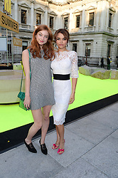 Left to right, ANTONIA CLARK and SAMANTHA BARKS at the preview party for The Royal Academy Of Arts Summer Exhibition 2013 at Royal Academy of Arts, London on 5th June 2013.