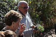 Erez Komarovsky an Israeli chef and artisan baker uses local Galilee herbs in his cooking workshop