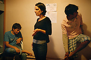 [English]  At the hotel with the minors taken in charge in the emergency accommodation system. Leila is a social worker for France Terre d'Asile. In November 2007, she has been taken into custody for more than 12 hours because she had migrant's phone numbers saved in her cell-phone.<br />