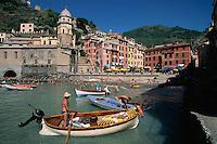 2000, Vernazza, Italy --- Vernazza Harbor --- Image by © Owen Franken/CORBIS