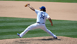 June 7, 2017 - Los Angeles, California, U.S. - Los Angeles Dodgers relief pitcher Kenley Jansen throws to the plate against the Washington Nationals in the ninth inning of a Major League baseball game at Dodger Stadium on Wednesday, June 7, 2017 in Los Angeles. Los Angeles Dodgers won 2-1. (Photo by Keith Birmingham, Pasadena Star-News/SCNG) (Credit Image: © San Gabriel Valley Tribune via ZUMA Wire)