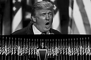 Republican Presidential nominee Donald Trump speaks during the fourth day of the Republican National Convention on July 21, 2016 at the Quicken Loans Arena in Cleveland, Ohio.