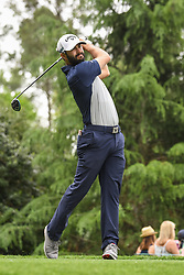 May 5, 2018 - Charlotte, NC, U.S. - CHARLOTTE, NC - MAY 05: Adam Hadwin tees off during the 3rd round of the Wells Fargo Championship on May 05, 2018 at Quail Hollow Club in Charlotte, NC. (Photo by William Howard/Icon Sportswire) (Credit Image: © William Howard/Icon SMI via ZUMA Press)