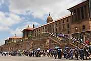 Thousands of mourners queue for hours to pay final respects to Nelson Mandela. Mandela is lying in state in an open casket in the Union buildings in Pretoria, South Africa<br /> <br /> Thurssday 12th December 2013<br /> Picture by Zute Lightfoot