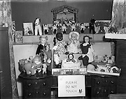 10/11/1952<br /> 11/10/1952<br /> 10 November 1952<br /> Franciscan toy competition at the Franciscan Friary, Merchants Quay, Dublin. An image of some of the toys on display.