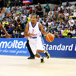 GB men vs Puerto Rico basketball at the Copper Box Arena. Justin Robinson (07). 11/08/2013 (c) MATT BRISTOW