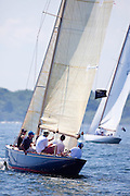 Flapper, 6 Meter Class, sailing in the Robert H. Tiedemann Classic Yachting Weekend race 1.