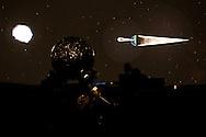 Anzi (PZ) 12.08.2009 Italy - Il Planetario, osservatorio astronomico realizzato in località Santa Maria sul  Monte Siri. Nella Foto: Nella Foto: Una dimostrazione del funzionamento del planetario con la proiezione della volta celese. Foto Giovanni Marino