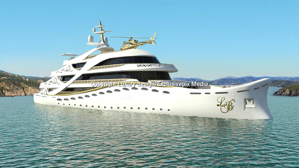 """Inside the Worlds Luxury Yacht  for WOMEN, with Swarovski Crystal chandeliers , gold mosaics ice fountains and a spa all a woman could want for Valentines day... for the rich of course!<br /> <br /> Luxury designer Lidia Bersani has created the first Luxury mega yacht for women in mind.<br /> <br /> The white and gold yacht measuring 262ft, is for women buyers and is designed using crystal, gold fur and flowers, named LA BELLE, which means  """"the beauty""""<br /> <br /> the yacht can sleep 12 guests in six luxury cabins, the spa area with hydromassage pool, harman, infrared sauce, snow room and ice fountains, fitness club ,beauty centre , nightclub, cinema and bars.<br /> <br /> """"the Idea is to equip the super yacht with ultra modern stabilizing system and state of the art machinery and equipment"""" says Lidia Bersani of Luxury design.<br /> <br /> Each deck has an outside area for sun bathing , and looking out to sea.<br /> A helicopter pad sits on top of the yacht, all the luxury a woman could want...<br /> <br /> Photo shows; Main Interior<br /> ©Luxury design/Exclusivepix Media"""
