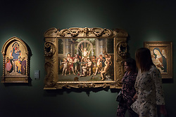 "© Licensed to London News Pictures. 29/06/2017. London, UK.  (C) ""Children's Baccahanal:  The Triumph of Bacchus with the Olymoics Deities as Children"" by Peter Van Lint.  Members of the public visit Masterpiece London, a leading art fair held in the grounds of the Royal Hospital Chelsea.  The fair brings together 150 international exhibitors presenting works from antiquity to the present day and runs 29 June to 5 July 2017.  Photo credit : Stephen Chung/LNP"