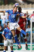 Photo: Pete Lorence.<br />Chesterfield Town v Wycombe Wanderers. Coca Cola League 2. 01/09/2007.<br />Peter Leven and Jermaine Easter battle for the ball.