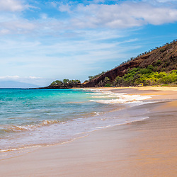 Makena Big Beach Maui Hawaii panorama photo. Big Beach is in Wailea-Makena Kihei Hawaii. Panoramic photo ratio is 1:3. Copyright ⓒ 2019 Paul Velgos with All Rights Reserved.