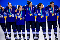 22-02-2018 KOR: Olympic Games day 13, PyeongChang<br /> Final Ice Hockey Canada - USA 2-3 / Team USA viert feest en pakt de gouden medaille