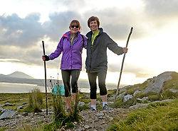 Ann Burke Castlebar and Breeda Murphy Galway were amoung the many pilgrims that climbed Croagh Patrick on Reek Sunday.<br />Pic Conor McKeown