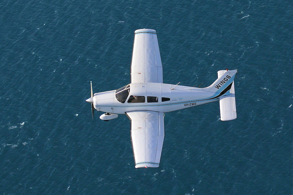 Piper PA-28-161 Warrior II VH-ZWE over Port Phillip Bay