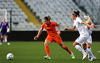 Fifa Womans World Cup Canada 2015 - Preview //<br /> Cyprus Cup 2015 Tournament ( Gsp Stadium Nicosia - Cyprus ) - <br /> Netherlands vs England 1-1   // Sherida Spitse of Netherlands (L), challenges with Jo Potter of England (R)