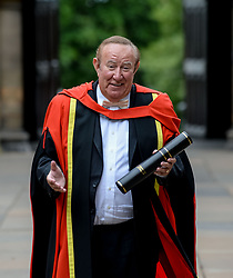 Pictured: Broadcaster Andrew Neil after getting his honorary degree from the University of Glasgow.<br /> <br /> &copy; Dave Johnston / EEm