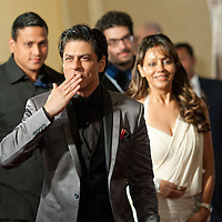 MACAU, MACAO - JANUARY 21:  Indian actor Shah Rukh Khan and his wife Gauri Khan attends red carpet during the Zee Cine Awards 2012 ceremony at The Venetian Macao-Resort-Hotel on January 21, 2012 in Macau.  Photo by Victor Fraile / studioEAST