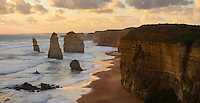 The Twelve Apostles, a group of sea stacks along Victoria's Great Ocean Road, Australia