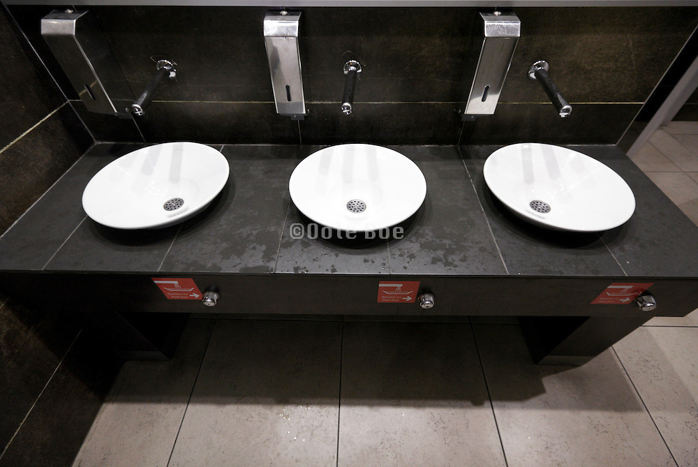 modern designed public washroom facility