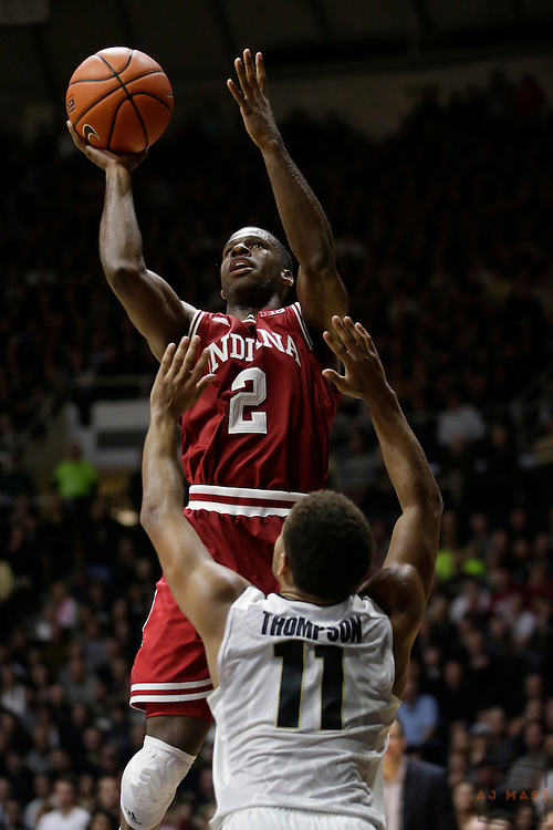 Indiana guard Josh Newkirk (2) in action as Purdue played Indiana in an NCCA college basketball game in West Lafayette, Ind., Tuesday, Feb. 28, 2017. (Photo by AJ Mast)