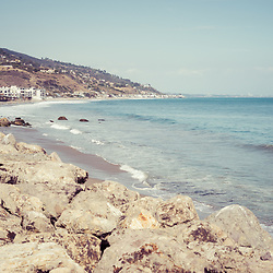 Manibu California coastline photo. Malibu is a beach city in Southern California in the United States of America. Copyright ⓒ 2015 Paul Velgos with All Rights Reserved.