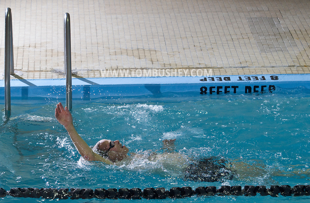 Middletown, New York - Swimming at the YMCA of Middletown on Nov. 5, 2014.