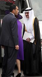 29 April 2011. London, England..Royal wedding day. Controversial invitee, the King of Bahrain, Hamad bin Isa Al Khalifa departs Westminster Abbey. .Photo; Charlie Varley.