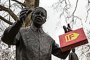 Nelson Mandela joins the Enough Food IF campaigners gather in Westminster to call on Osborne to keep promises to the world's poorest.